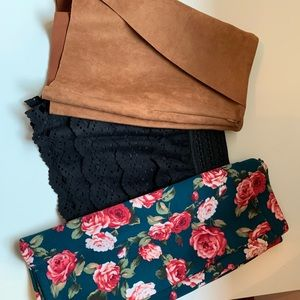 Bundle of 2 dress shorts and 1 skirt